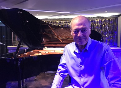 Conlon pictured in the piano bar in London's Mayfair.