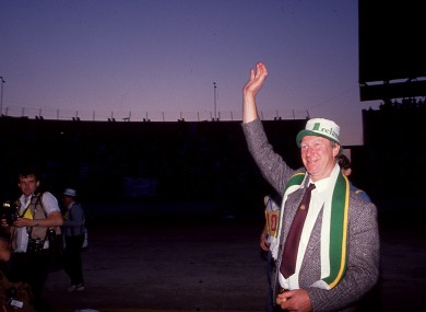 Jack Charlton spent 10 years in charge of Ireland.