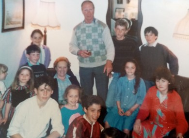 Jack Charlton pictured with the Kerins family
