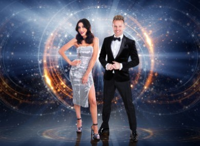 Hosts Jennifer Zamparelli and Nicky Byrne.