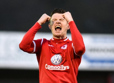 Sligo Rovers' John Dunleavy.