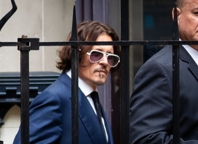 Johnny Depp leaving court after giving evidence yesterday.