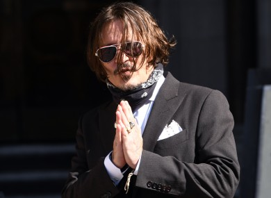 Johnny Depp arriving at the High Court in London for a hearing in his libel case against the publishers of The Sun and its executive editor, Dan Wootton.