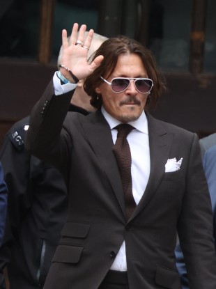 Johnny Depp leaving the High Court in London on Friday.