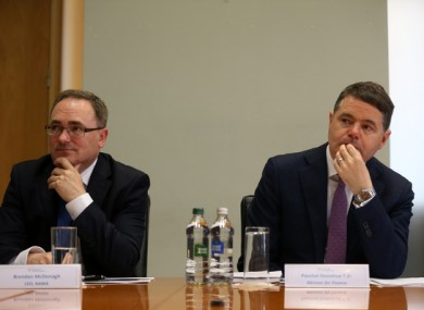 File Photo: NAMA Chief Executive Brendan McDonagh and Minister for Finance Paschal Donohoe