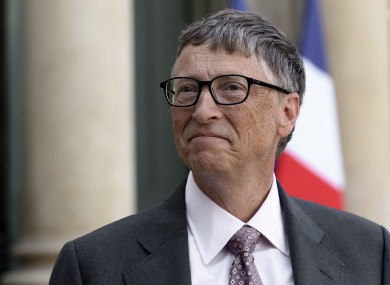 File image of US billionaire Bill Gates in 2014.