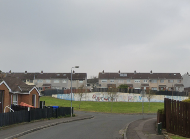 The incident happened in the Forthriver Crescent area of Belfast