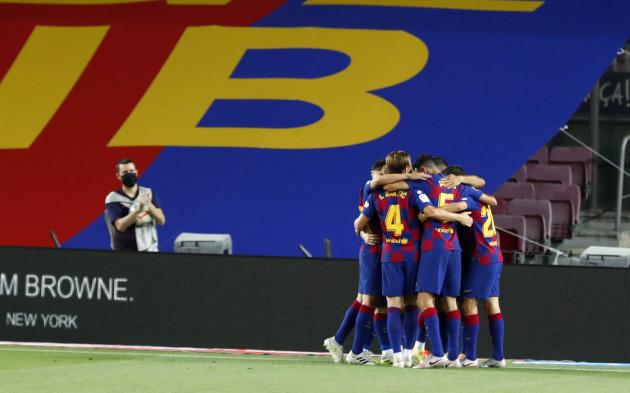 Luiz Suarez the match-winner as Barcelona send rivals Espanyol down