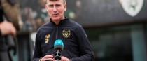 Stephen Kenny speaks to the media at FAI HQ in Abbottstown.