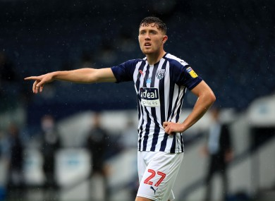 Dara O'Shea pictured during West Bromwich Albion's win against Derby County on Wednesday.