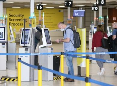 Passengers at Dublin Airport.