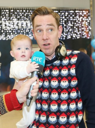 Ryan Tubridy at Dublin Airport last Christmas.