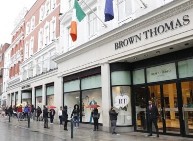 Brown Thomas on Grafton Street in Dublin (file photo)