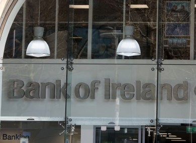 File photo of Bank of Ireland on O'Connell Street in Dublin.