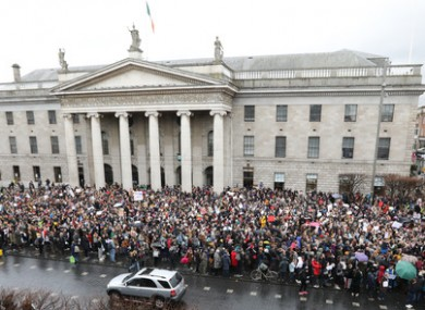 A Dublin rally in favour of victims in March 2018.