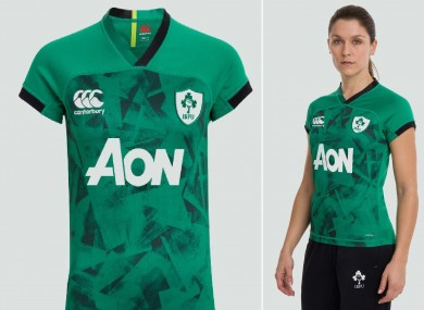 The female model used to promote Ireland's new jersey.