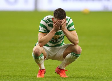 Ryan Christie reacts to defeat.
