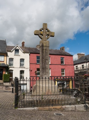 The Celtic High Cross in Clones, Co. Monaghan.