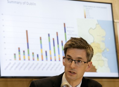 File image of Acting CMO Dr Ronan Glynn at a briefing earlier this week.