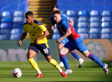 McCarthy in action at Selhurst Park on Tuesday.