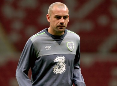 Gibson hasn't played for Ireland since 2016 (file photo).