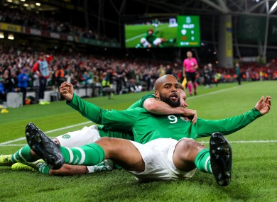 McGoldrick scored his first international goal in the 1-1 draw against Switzerland.