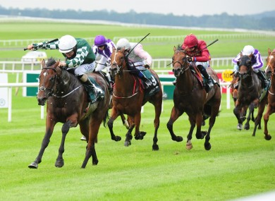 Lucky Vega powered home in the Phoenix Stakes.