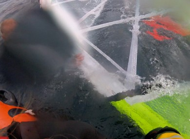 The windsurfer was rescued by the RNLI off the coast of Scotland where they were found with their equipment.
