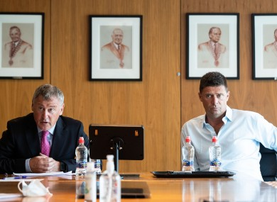Gary Owens and Niall Quinn speak to the media today.