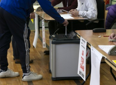 File photo. Voting in the election in February.