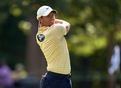 Rory McIlroy in action at the BMW Championship.