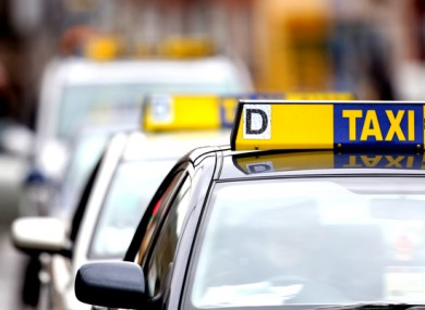 Taxis in line at O'Connell street, Dublin city centre. (File photo)