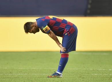 Barcelona star Leo Messi.