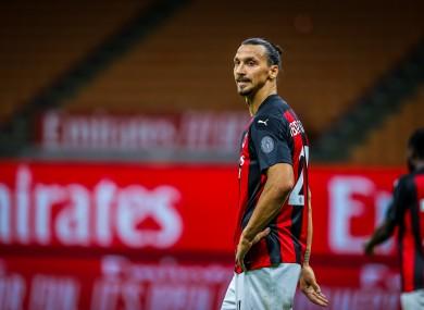 Zlatan Ibrahimovic of AC Milan (file pic).
