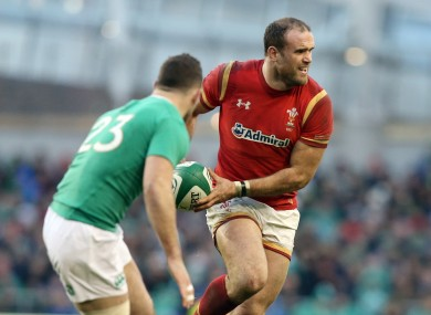 Jamie Roberts playing against Ireland in 2016.