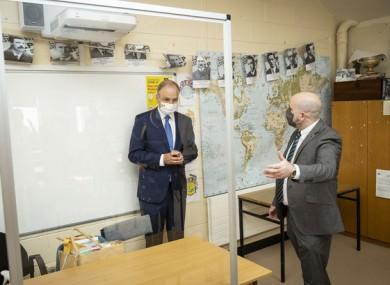 Taoiseach Micheál Martin visits Nagle Secondary Community College in Cork.