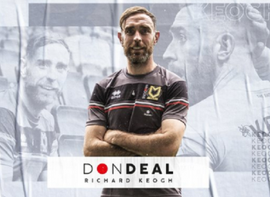 Richard Keogh returns to football with MK Dons.