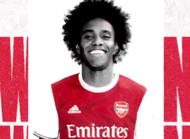 Willian will wear the number 12 shirt at Arsenal.