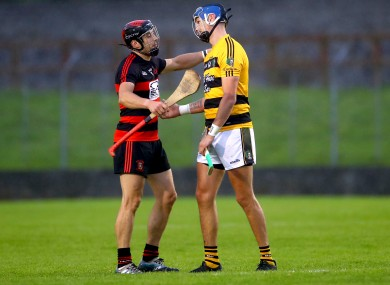 Shane O'Sullivan and Maurice Shanahan after the game.