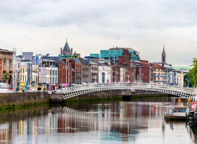 File photo. Ha'penny Bridge in Dublin