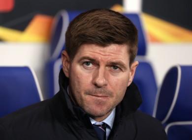 Steven Gerrard (file pic).