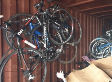 Some of the stolen bikes.
