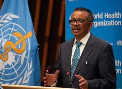 Director-General Tedros Adhanom Ghebreyesus.