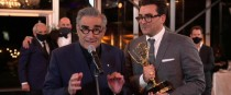 Eugene Levy Emmys for his writing and acting role in Schitt's Creek.