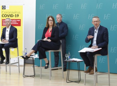 A HSE briefing in Dublin.