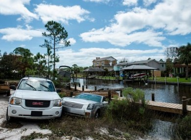 Cars in a canal in Florida.