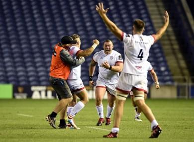 Ulster players celebrate last week's semi-final win