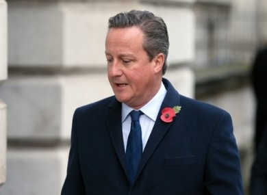 Former UK prime minister David Cameron arriving at Downing Street last November.