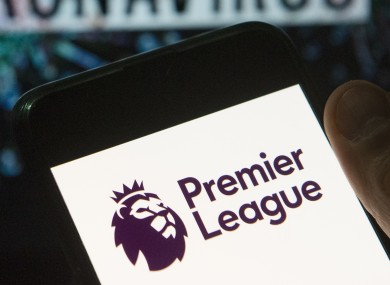 A smartphone with the Premier League logo.