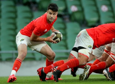 Conor Murray in possession for Munster during the recent Guinness Pro14 semi-final defeat to Leinster.